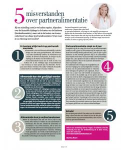 misverstanden over partneralimentatie